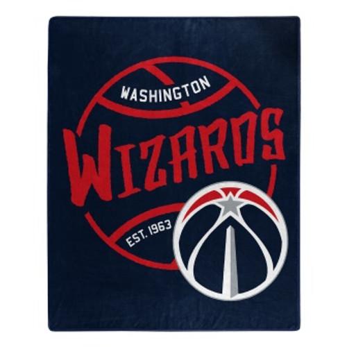 Washington Wizards Official NBA Black Top Raschel Throw Blanket