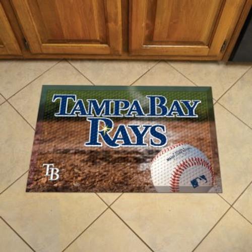 Tampa Bay Rays Baseball Scraper Mat