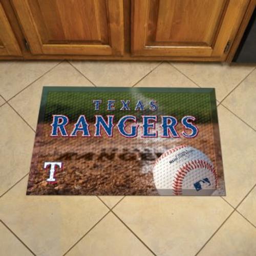 Texas Rangers Baseball Scraper Mat