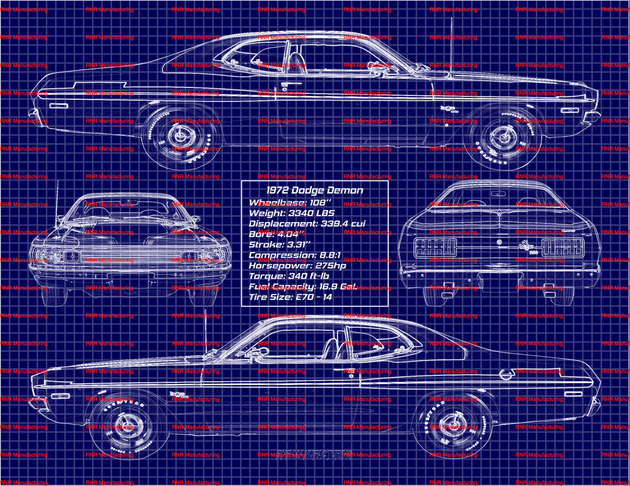 1971 1972 Dodge Demon 340 A Body Hood Pin Bezels /& Gaskets Kit New MoPar