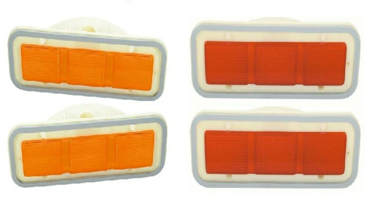 Side Marker Lens Set 71 Plymouth B Body Front & Rear
