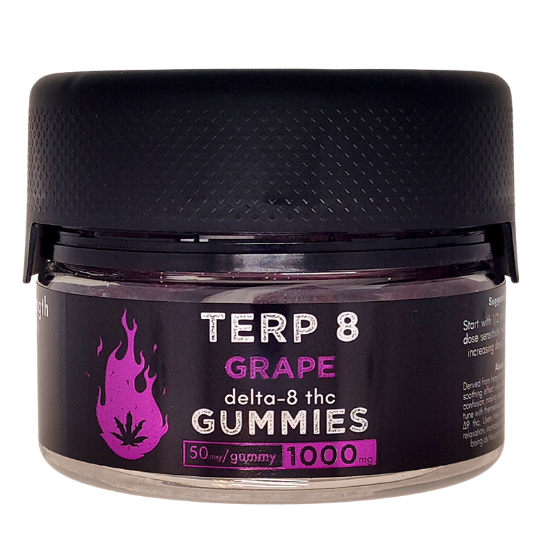 Grape Delta-8 THC Gummies [1000mg // 20ct]