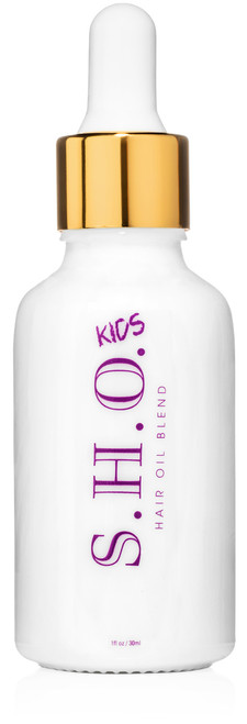 Strengthen and protect your kids hair with S.H.O. This mild blend of natural oils will improve scalp health, texture management and overall condition of the hair.