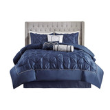Free Shipping! Navy Blue 7 Piece Tufted Comforter by Set Madison Park
