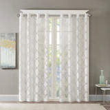 Free Shipping! Eden Fretwork Burnout Sheer Curtains by Madison Park (1 Curtain)