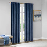 Free Shipping! Navy Colt Room Darkening Blackout  Poly Velvet Rod Pocket/Back Tab Window Curtains  by 510 Design (Set of 2)