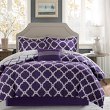 Free Shipping!  Purple  Merritt Reversible Complete Comforter and Cotton Sheet Set by Madison Park Essentials