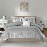 Free Shipping! Grey  Enchanting Comforter Set