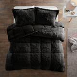 Free Shipping! Black Plush  Comforter Set