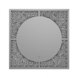 Silver Glam Square  LED Wall  Modern Mirror
