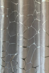 Alice Grey & Metallic Silver Window Curtain (1) Panel