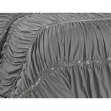 Sale! Gray Pleated Bling Abbingt Comforter Set