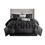 Sale! Black  7 Piece Tufted Comforter Set by  Madison Park