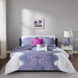 Sale! Purple & Fuschia 5 Piece Comforter Set by Intelligent Design