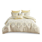 Yellow and Gray 7 Piece Paisley Comforter Set by  Madison Park