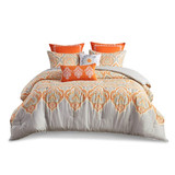 Sale! Orange and Gray 7 Piece Paisley  Comforter Set by  Madison Park