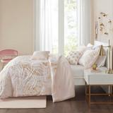 Sale! Pink & Gold Metallic Printed 5 Piece  Comforter Set by Intelligent Design