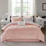 Sale! Soft Pink 7 Piece Comforter and Sheet Set by Intelligent Design