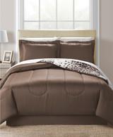 Fairfield Animal Print 8-Pc Queen Reversible Comforter Set