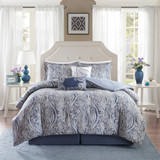 Free Shipping! Blue and Gray 6 Pc. Comforter Set