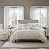 Free Shipping! Taupe Chenille Embroidered Comforter Set