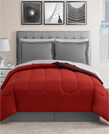 Red and Gray 8-Pc. Reversible Comforter Set