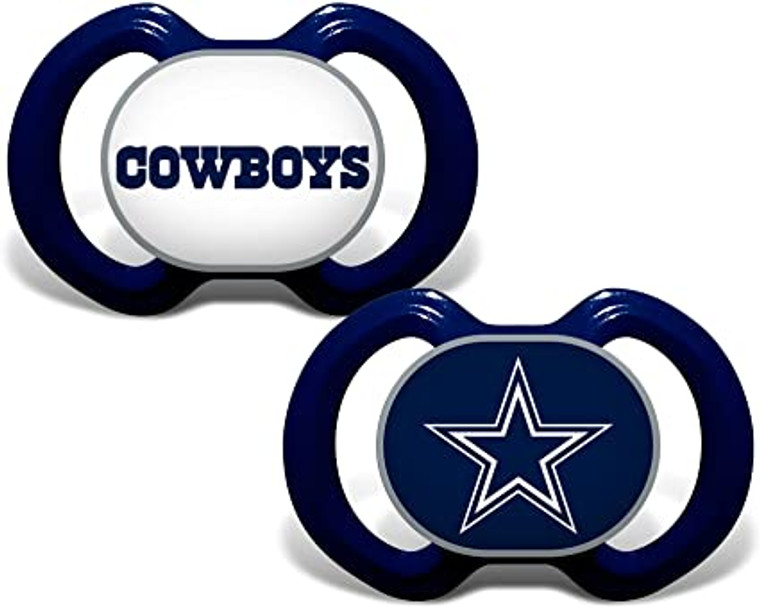 Free Shipping! Dallas Cowboys Orthodontic Pacifiers (2 pack)