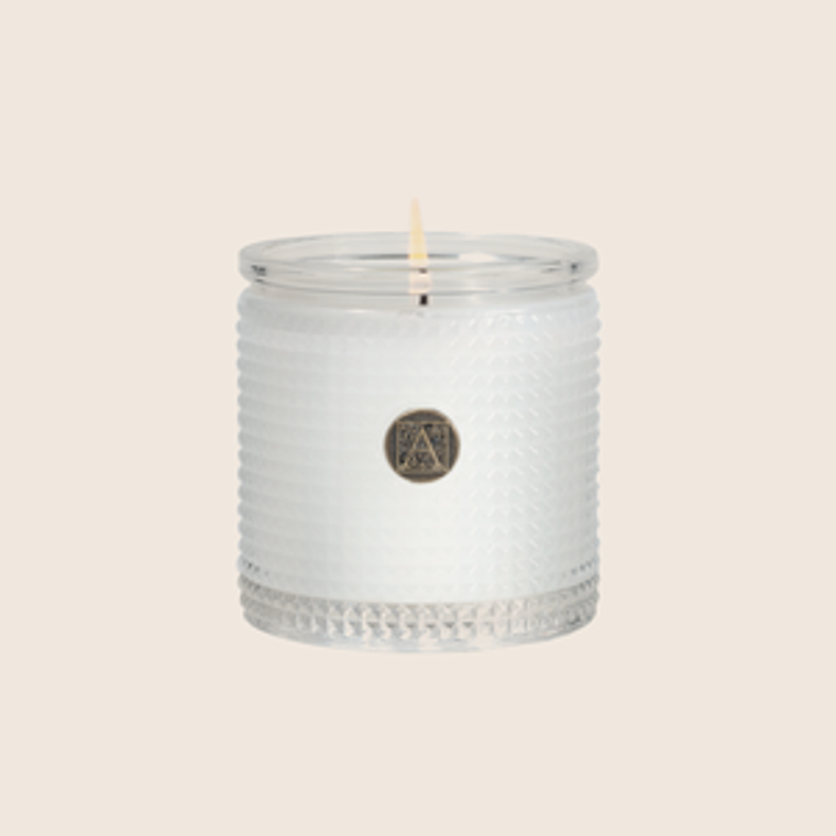 Aromatique White Teak & Moss Scented Candle-6oz.