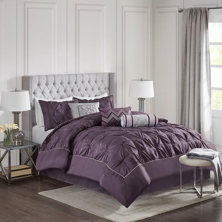 Sale! Plum Laurel 7 Piece Tufted Comforter Set by Madison Park