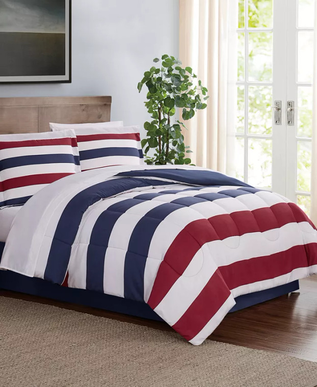 Striped 8-Pc. Comforter Set
