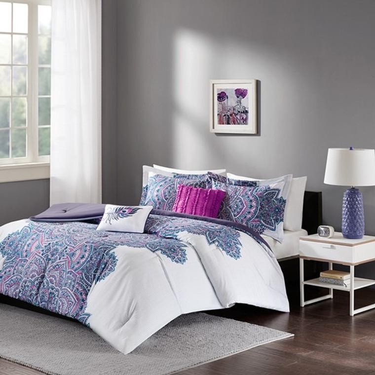 Sale! Purple & Fuschia 5 Piece Comforter Set by Intelligent Design