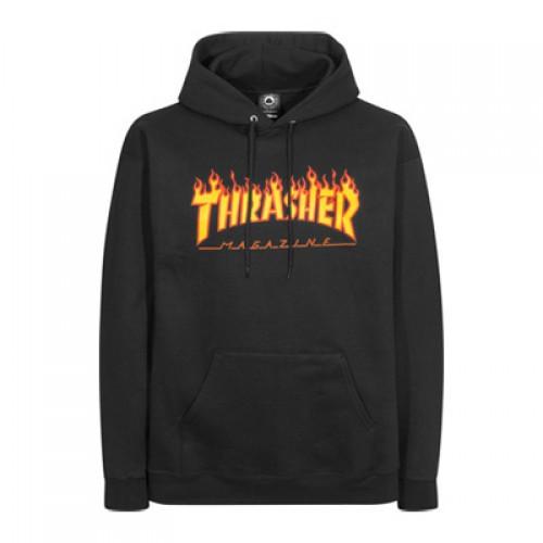 Thrasher Flame Logo Hoodie (Black) Size Large