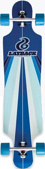 LAYBACK SUNSTRIPE BLUE DROP THRU LONGBOARD COMPLETE 9.75 X 40.00
