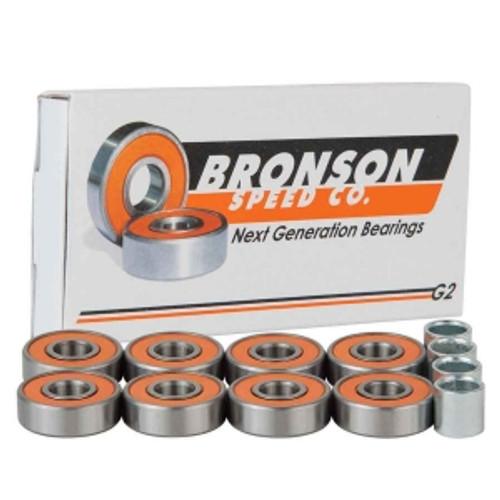 BRONSON G2 BEARINGS SINGLE SET PACK w/spacers+washers