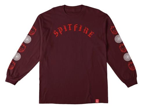 Spitfire Olde Long Sleeve Burgundy