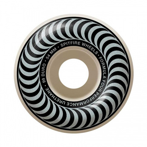 SPITFIRE 54MM FORMULA FOUR CLASSIC SILVER  101D (Set of 4)