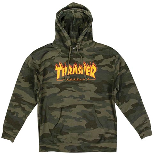 THRASHER FLAME FOREST CAMO HOODIE