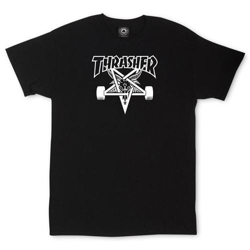 THRASHER SK8 GOAT BLACK T-SHIRT