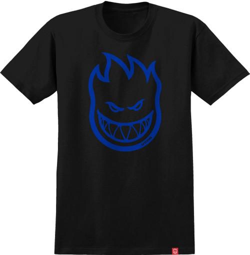 SPITFIRE Bighead Tee Black/Blue Size Large