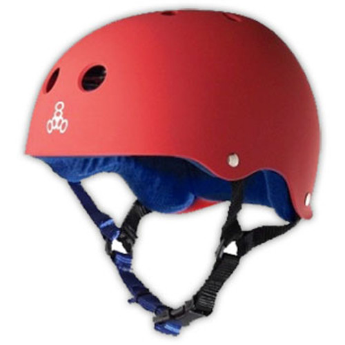 TRIPLE 8 HELMET BRAINSAVER UNITED RED RUBBER (Small)