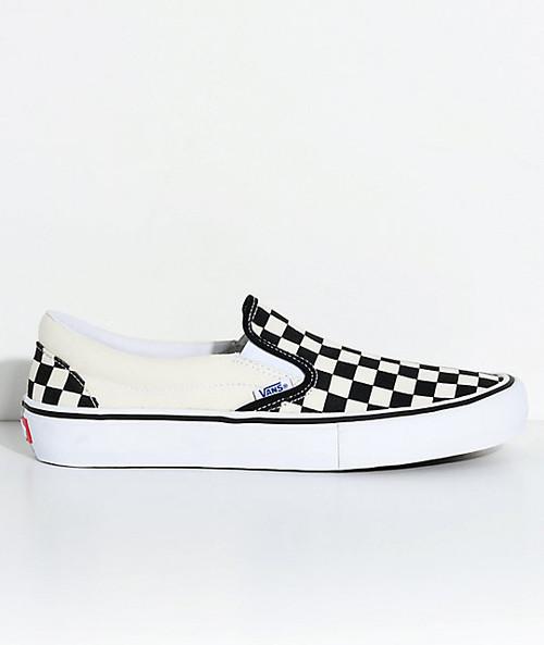 Vans Slip On Pros (Checkerboard)