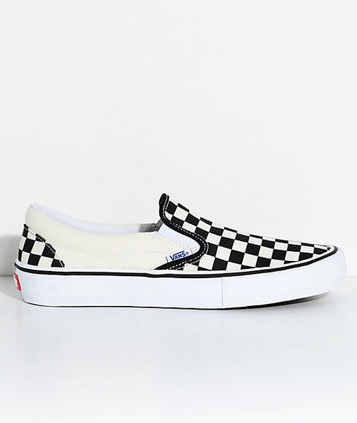 Vans Slip On Pros (Checkerboard)