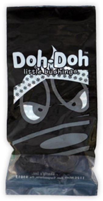 SHORTY'S BUSHINGS DOH DOHS BLACK 101A (NOW 4 PER PACK)
