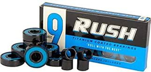 RUSH ABEC 9 BEARINGS WITH SPACERS SINGLE SET