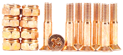 "BULK 1"" HARDWARE 8-PACK ANODIZED ROSE GOLD"