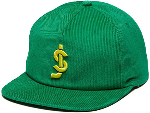 SHAKE JUNT CROOK GREEN CORD SNAPBACK HAT
