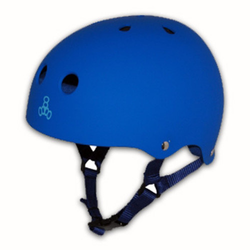 TRIPLE 8 HELMET BRAINSAVER ROYAL BLUE RUBBER (Large)