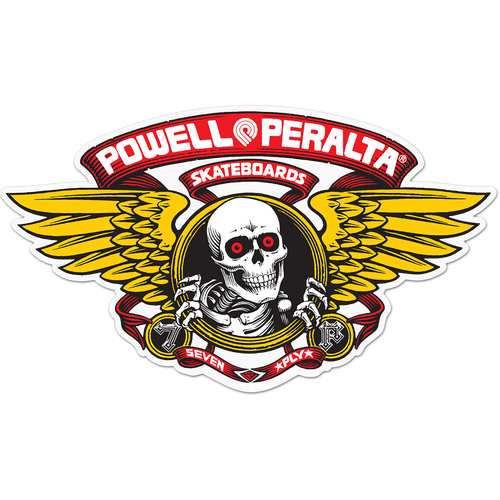 """POWELL WINGED RIPPER DIE-CUT 5"""" RED DECAL"""