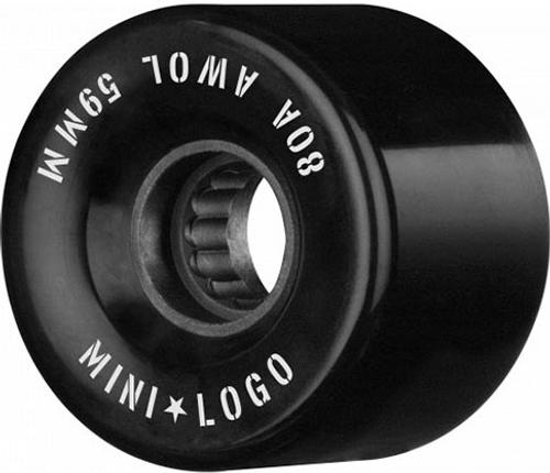 MINI LOGO 59MM A.W.O.L. A CUT BLACK 59MM 78A (Set of 4)