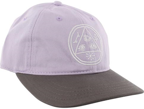 WELCOME BASIC WITCH UNSTRUCTURED SLIDER HAT LAVENDER/CHARCOAL